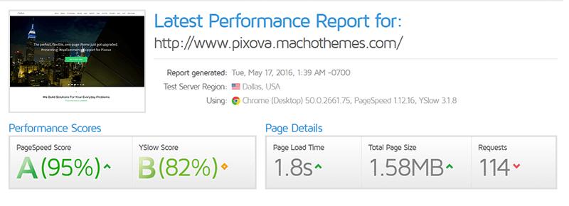 performance report pixova2