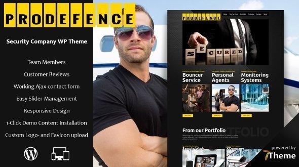 Prodefence – Security Company WordPress Theme 3