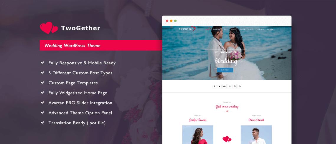 TwoGether Pro – Wedding WordPress Theme 1