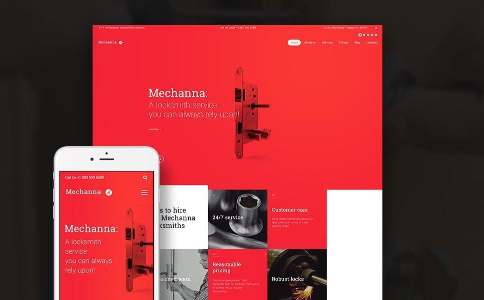 Mechanna - Locksmith WordPress Theme 1
