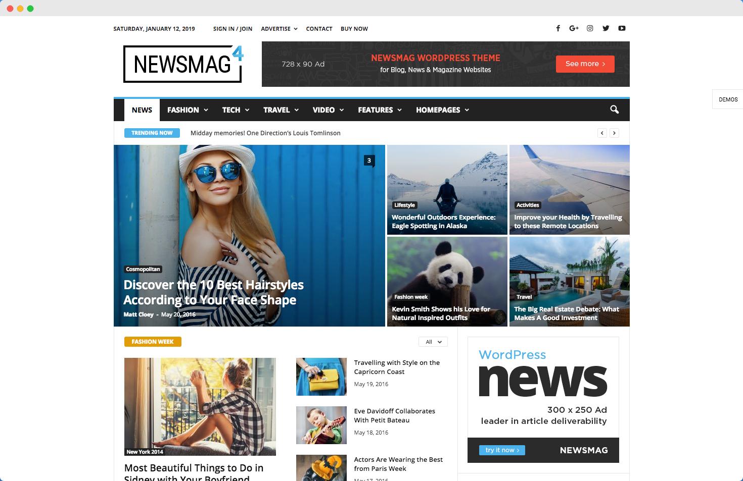 newsmag theme demo