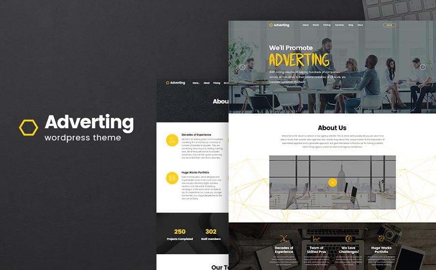 Adverting - Advertising Agency Responsive WordPress Theme 3