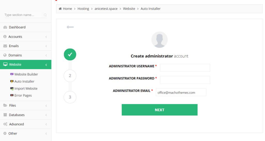 hostinger wordpress autoinstall