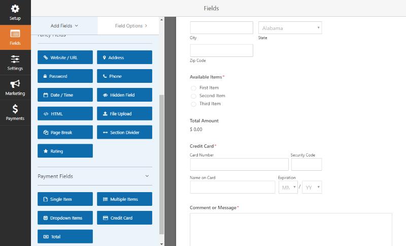 premium form fields