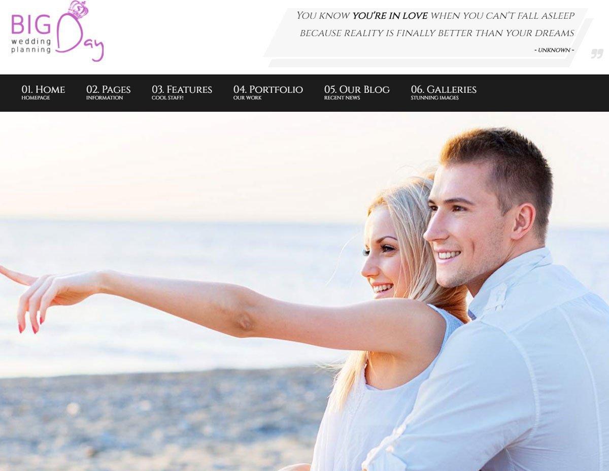 Big Day - WP Wedding Planner Theme 3