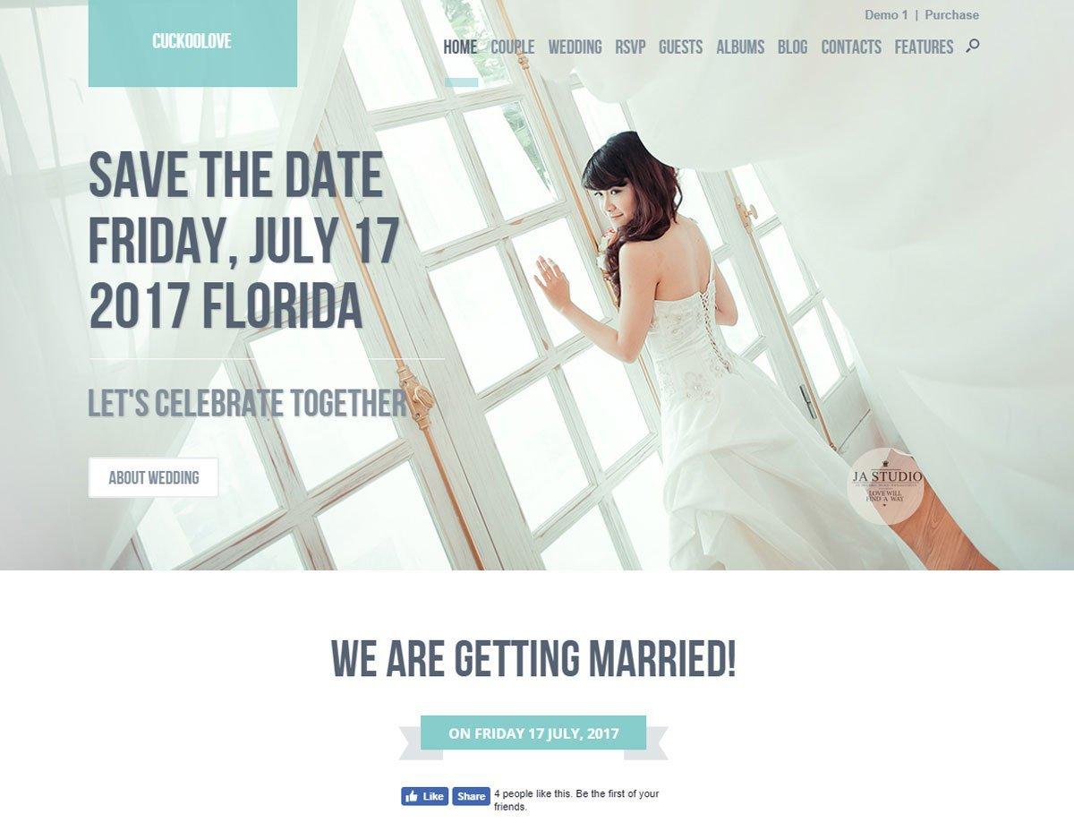 CuckooLove - Wedding WordPress Theme 2