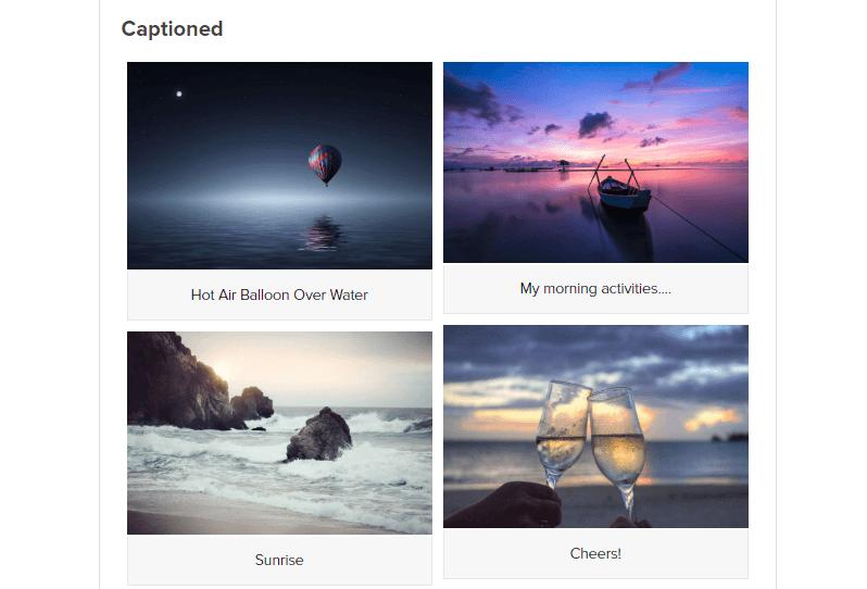 Gallery captions