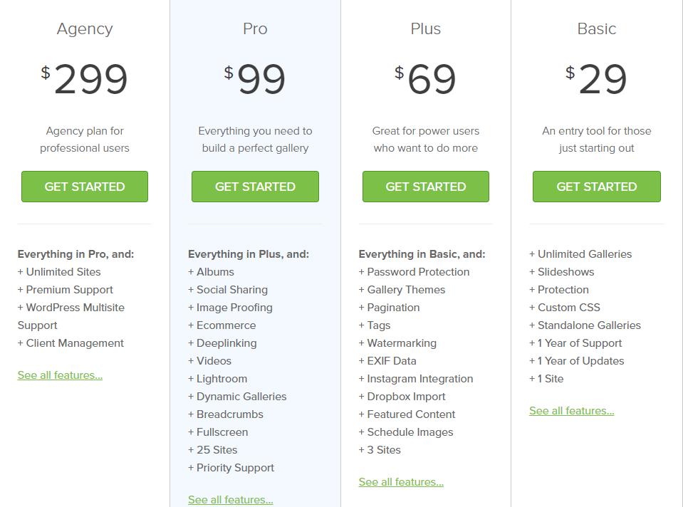 Envira Gallery pricing