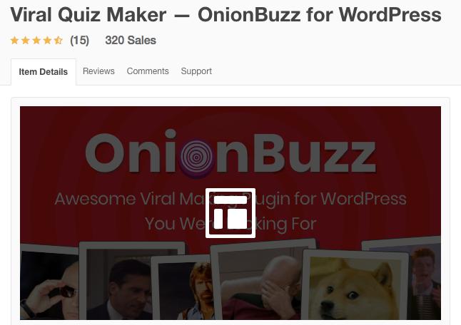 Viral Quiz Maker Onion Buzz For WordPress - WordPress quiz Plugins