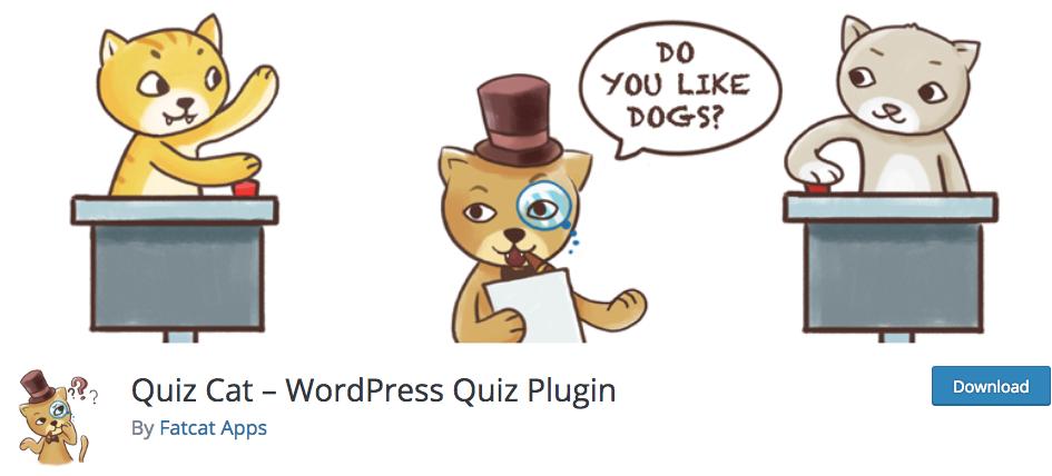 quiz cat plugin wordpress