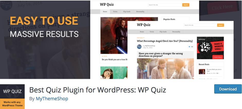 WP QUiz plugin by mythemeshop