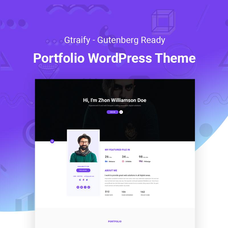 Gratify - Gutenberg Ready Portfolio WordPress Theme 1