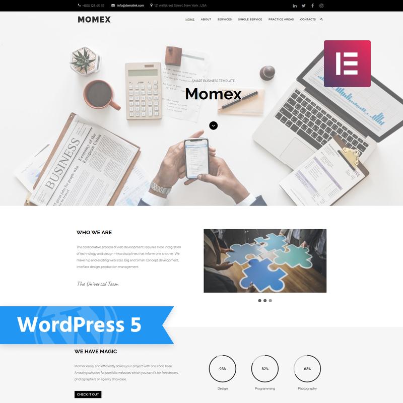 Momex - Business Elementor WordPress Theme 2