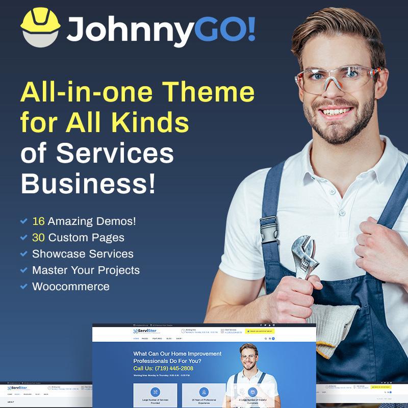 JohnnyGo - Multipurpose Home Services WordPress Theme 3