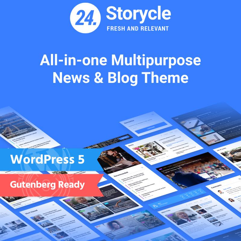 Storycle - Multipurpose News Portal Elementor WordPress Theme 4
