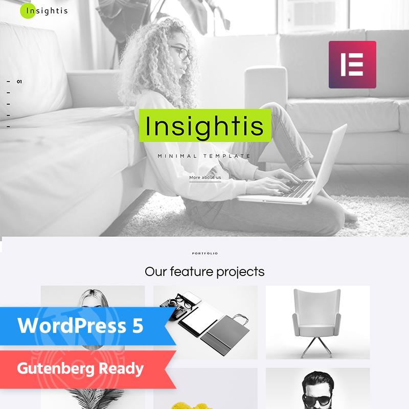 Insightis - Creative Minimal Elementor WordPress Theme 2