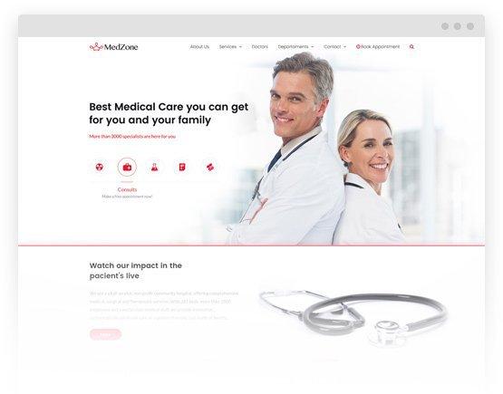 MedZone PRO: Medical WordPress Theme 2
